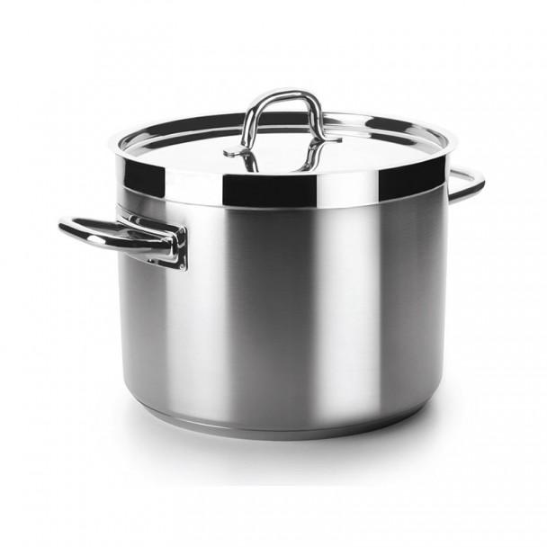 Pot Professionnel Bas avec Couvercle Chef Luxe