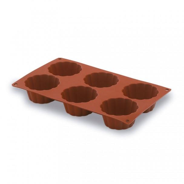 Moule Briochette 6 Cavités 79 mm Silicone Pastryflex