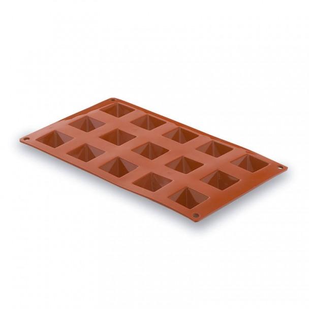 Moule Pyramide 15 Cavités Silicone Pastryflex