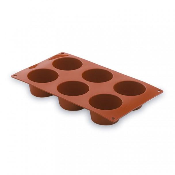 Moule À Muffins 6 Cavités En Silicone Pastryflex
