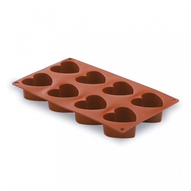 Moule Coeurs 8 De La Cavité De Silicone Pastryflex