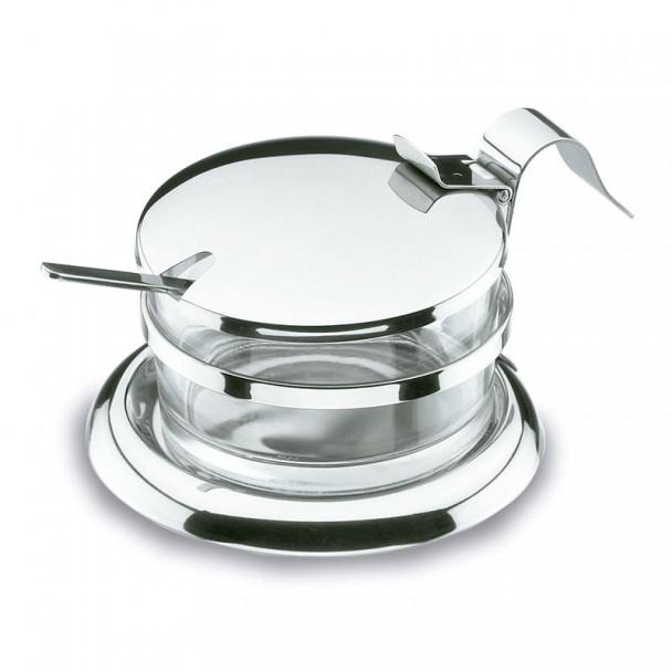 Fromage à la Parmigiana avec une Cuillère en acier Inoxydable