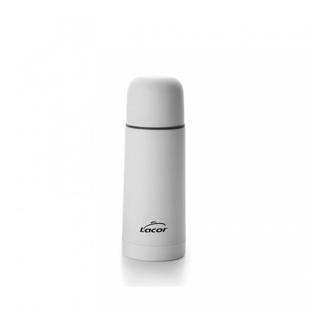 Bouteille Isotherme Soft Touch Blanc Inox 18/10