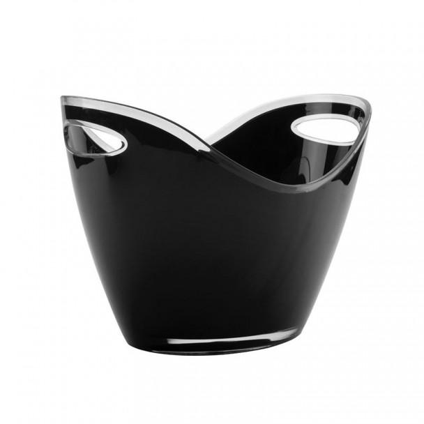 Cube Enfriabotellas Noir Acrylique Double Poignée