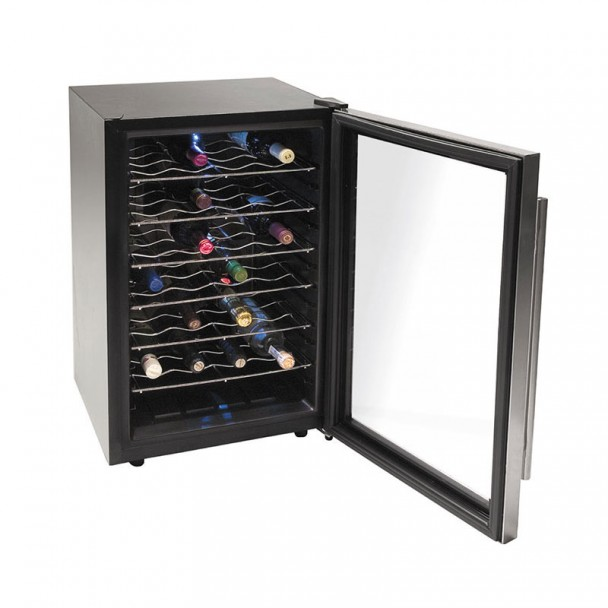 Placard, Réfrigérateur Électrique de 75 l/80 W - 28 Bouteilles Inox