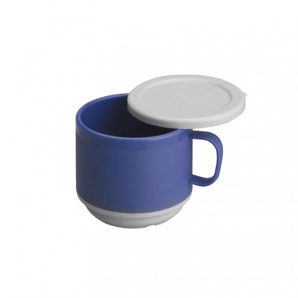 Tasse à Double Paroi en Polycarbonate avec Couvercle