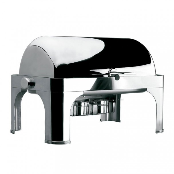 Chafing Dish GN 1/1 Rouler Dessus avec des Jambes-Inox
